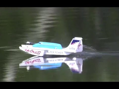 Hydro Foam RC Boat Airplane Car Crash into tree big tree climb at end