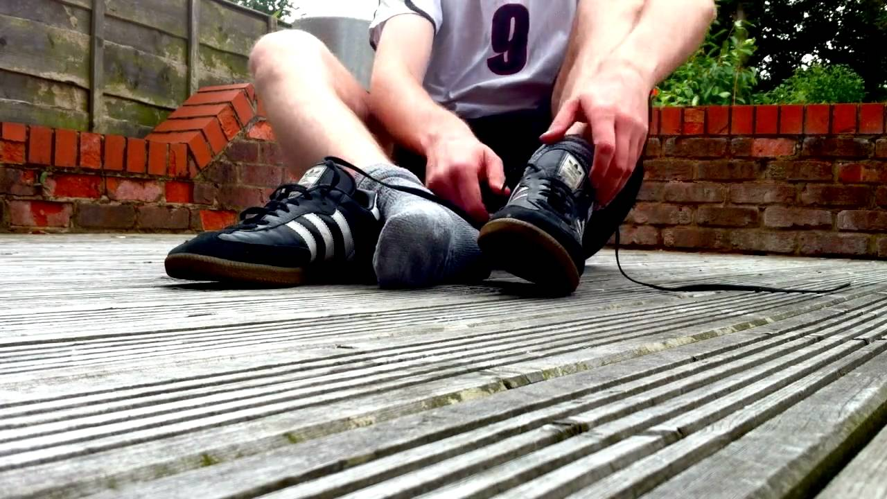 Adidas Samba on Feet Adidas Samba Amp Fluffy Socks