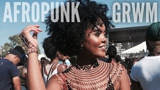 AfroPunk | GRWM & Vlog + Braided Headband Hair Tutorial