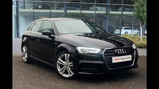 LG66LGE AUDI A3 TFSI S LINE BLACK 2016, West London Audi