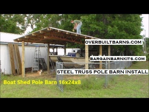 Diy pole building carport plans plans free for How to build a metal pole barn