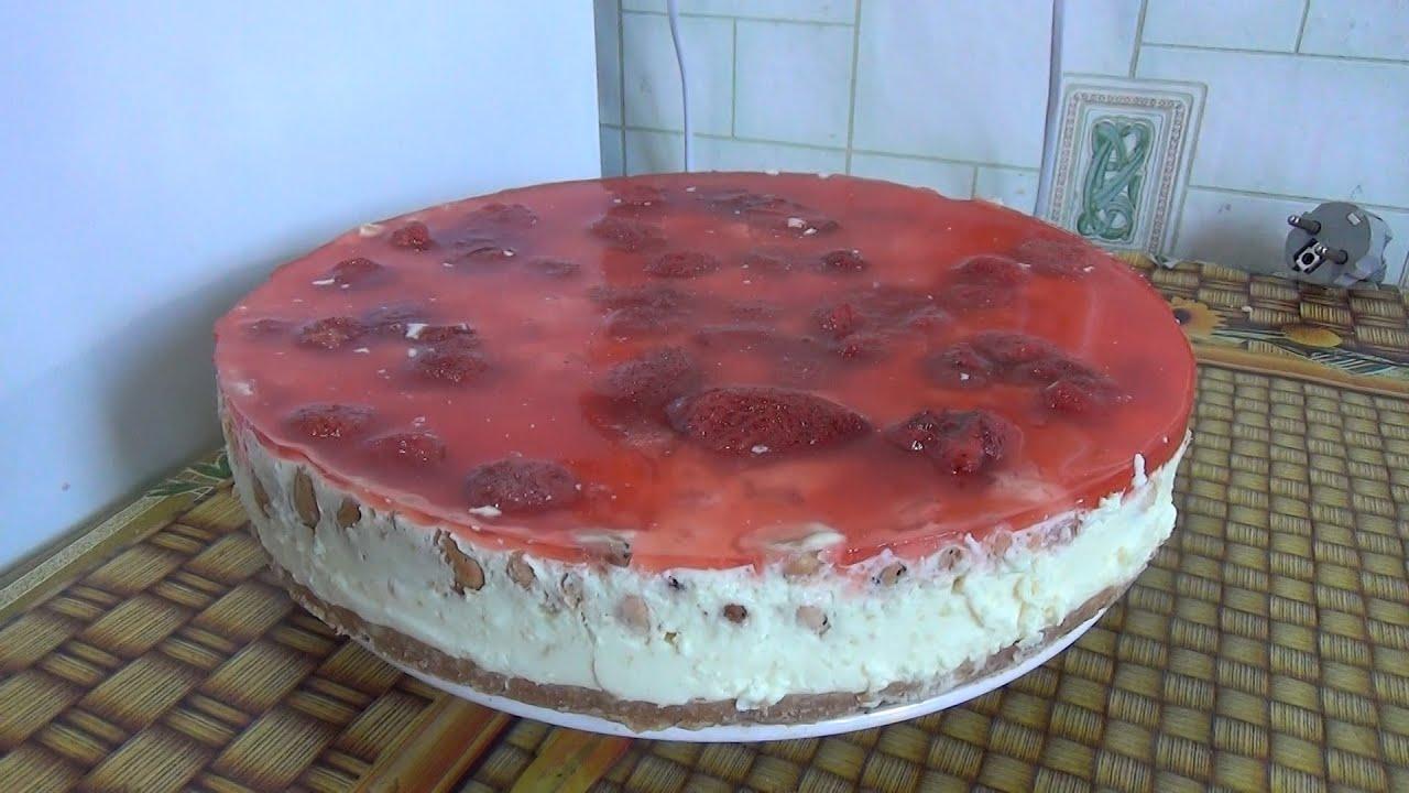 Заливной торт с крекером