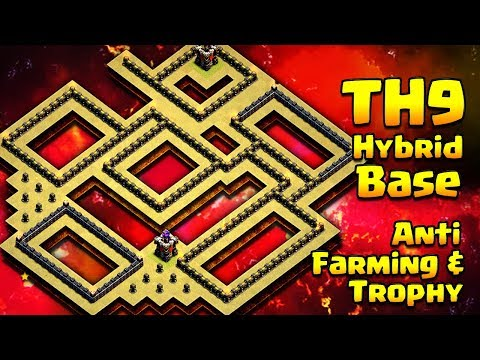 TH9 Hybrid Base - EPIC Town Hall 9 Anti-Loot/Trophy Base  ClashofClans