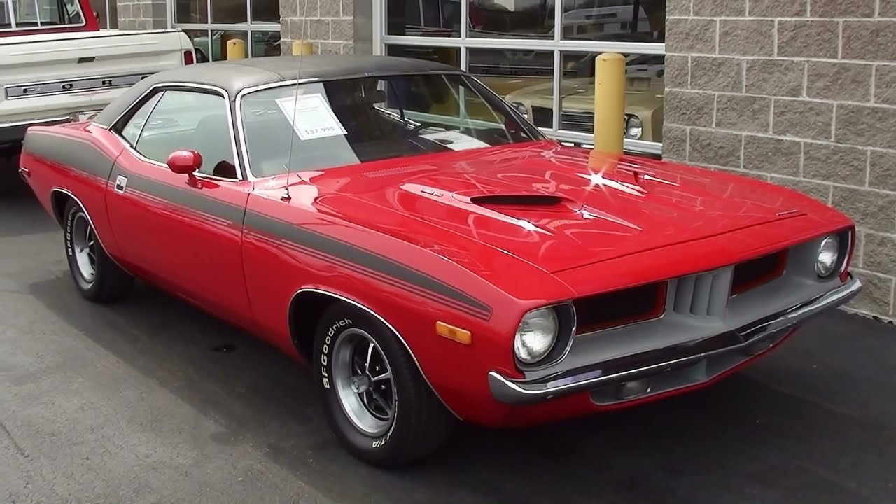 Pro Touring Cuda For Sale >> 1973 Plymouth Cuda 340 V8 - Nicely Restored - YouTube