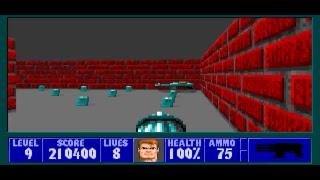 Wolfenstein 3d (DOS) Episode 1 Playthrough (I Am Death Incarnate)