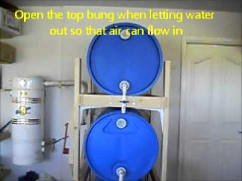 3-Tier 55 Gallon Barrel Water Storage System for Home ...