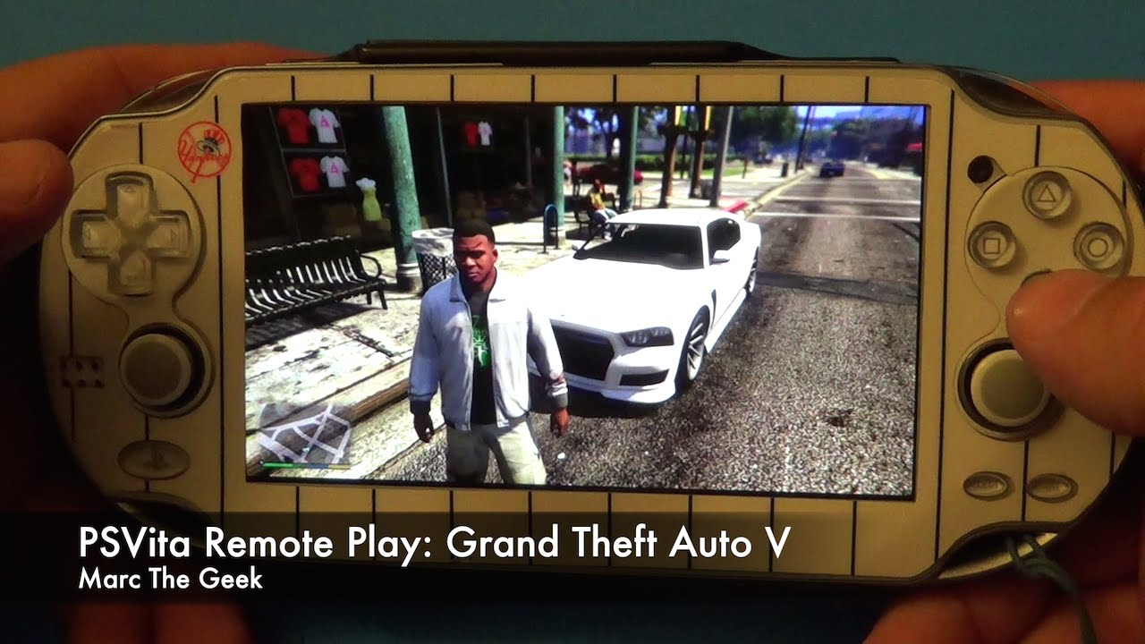 PSVita Remote Play: Grand Theft Auto V - YouTube