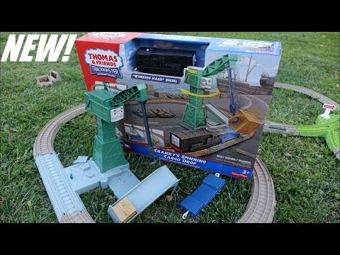 Thomas & Friends: Unboxing Cranky's Spinning Cargo Drop - Trackmaster video