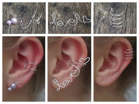 3 delicate ear cuffs diy youtube for Step by step wire jewelry subscription