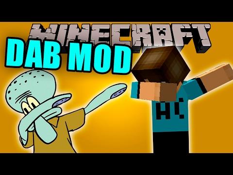 DAB MOD - Como hacer DAB en minecraft (IMPOSIBLE) - Minecraft mod 1.10.2 Review