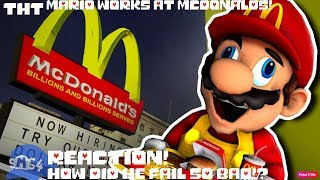 HE FRIED HIMSELF!? - SMG4: Mario Works at Mcdonalds REACTION!