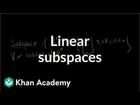 Linear Subspaces