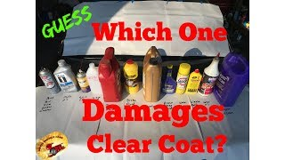 What Products Will Damage Your Cars Clear Coat?
