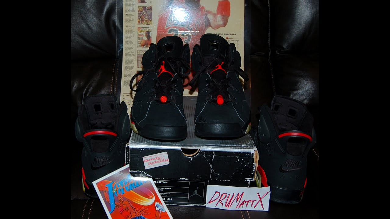 Air Jordan vi Black Infrared