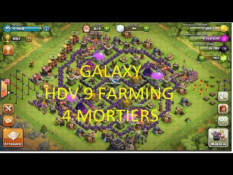 New Layout Th9 4 Mortar 4 Mortars Th9 Farming ba