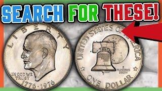 RARE EISENHOWER DOLLAR COINS WORTH MONEY - VALUABLE SILVER DOLLARS!!