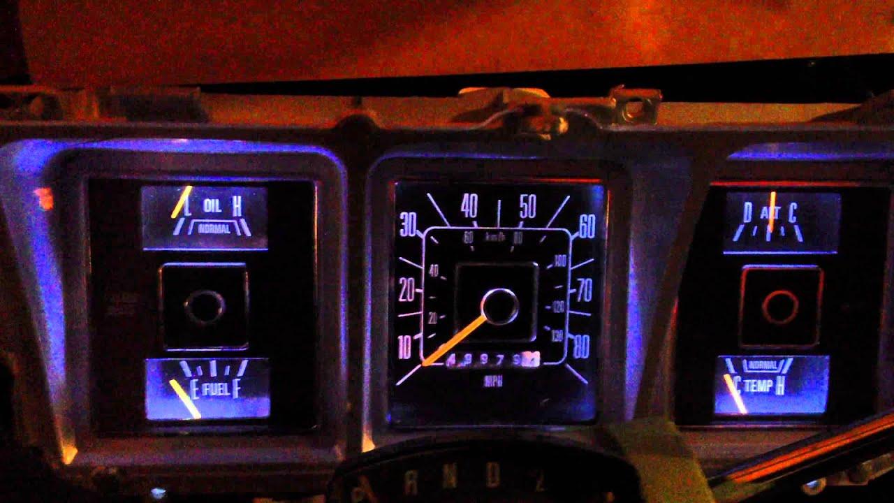 1979 F 350 Led Dash Lights Youtube