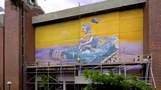 Cool street art timelapse @ Curtin University