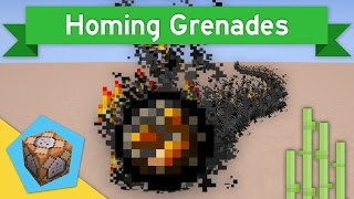 HOMING GRENADES in Vanilla Minecraft 1.11 | Homing Grenades Command Block Creation
