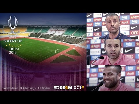 UEFA Super Cup 2015 - FC Barcelona press conference and training session
