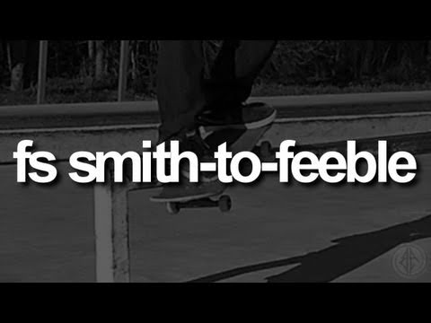 Frontside Smith-to-Feeble: First-Person Skateboarding.
