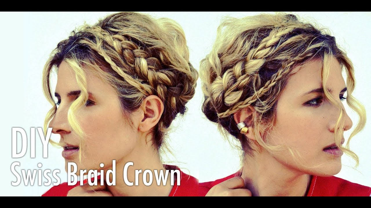 DIY Swiss Braid Crown / Milkmaid Braids Hair Tutorial