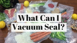 Vacuum Seal Bags - What Can I Vacuum Seal? By FoodVacBags