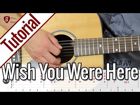Pink Floyd - Wish You Were Here | Gitarren Tutorial Deutsch