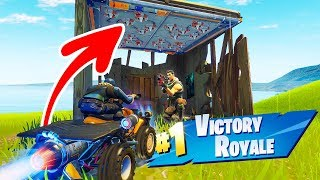 Defaults AANRIJDEN met de QUAD CRUSHER! - Fortnite Nederlands