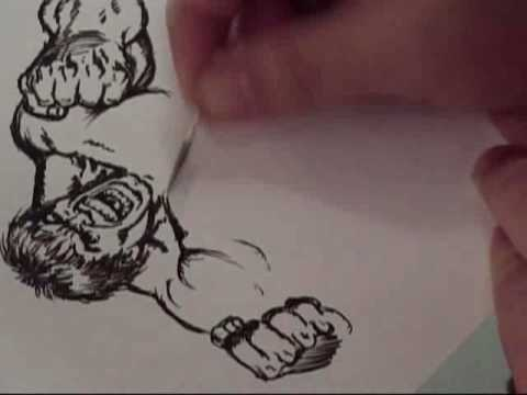 Hawes Draws The Incredible HULK with a TOOTHPICK!!!