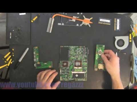 ASUS K52J take apart. disassembly. how-to video (nothing left)