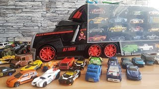 Kids' Toy Cars and Big Truck with Many Cars