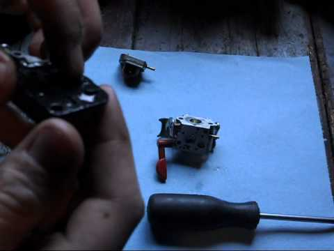 HOW TO CLEAN A Craftsman Trimmer Carburetor Part 1/2