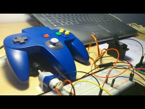 Proyectos Con Arduino: Servomotor Controlado Por Mando De Videoconsola Nintendo 64