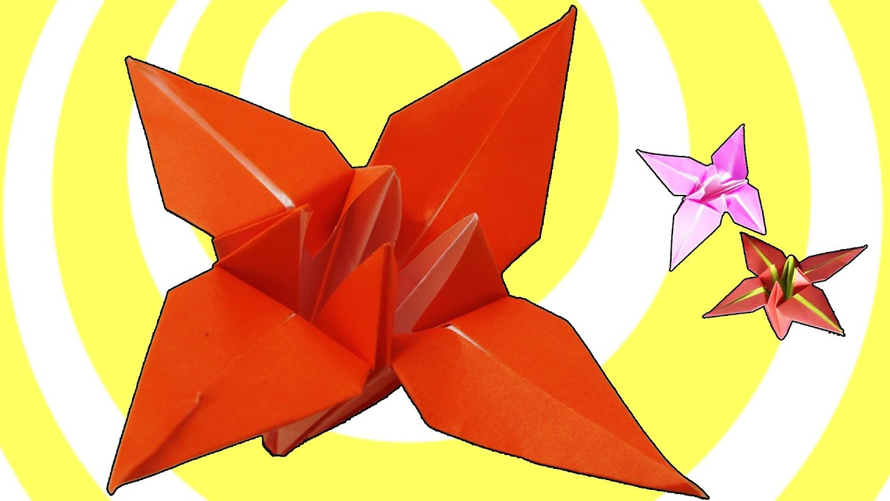 Origami Flower Lily / Iris Instructions [HD] - YouTube - photo#14