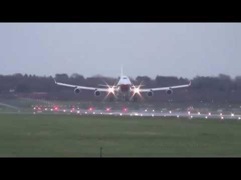 Oman Royal Flight B747 [A4O-OMN]   Landing @ Hamburg Airport