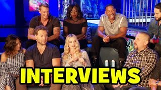 SUICIDE SQUAD Cast Interviews - Margot Robbie, Cara Delevingne, Jared Leto, Will Smith (Spoilers)