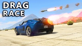 GTA V - Rocket Car vs Rocket (Drag Race)