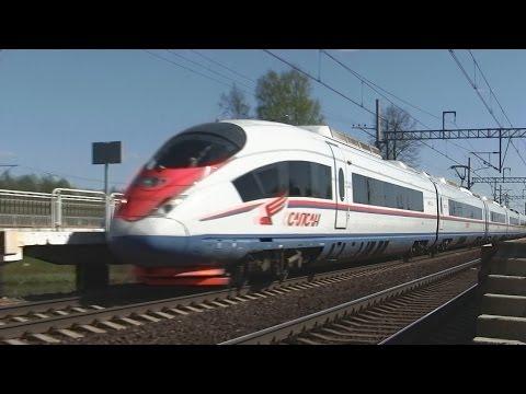 Скоростной поезд ЭВС2-02 Сапсан  Москва — Санкт-Петербург