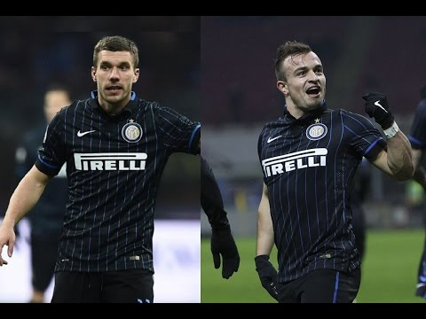Xherdan Shaqiri And Lukas Podolski vs Sampdoria(21/01/2015)14-15 HD 720P by轩旗