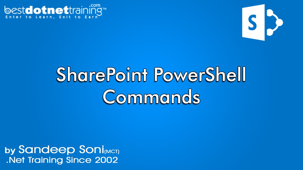 sharepoint powershell commands