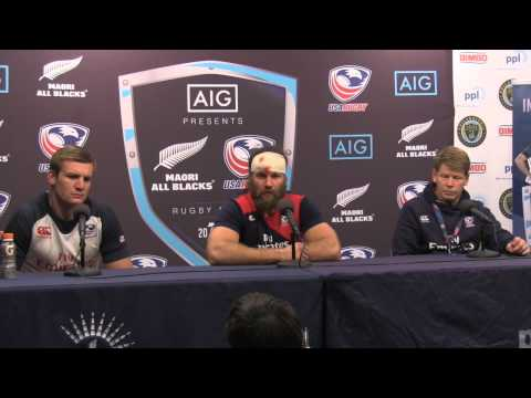 USA Eagles v New Zealand Maori All Blacks Press Conference