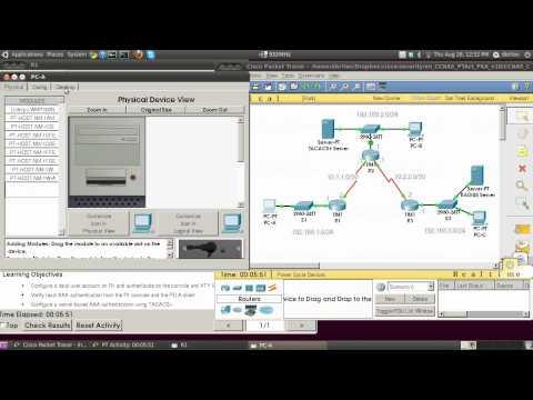 CCNA Security PT Activity Tacacs+ Radius