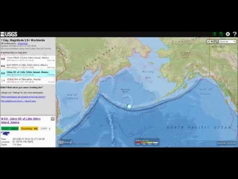 GREAT EARTHQUAKE & TSUNAMI WARNING 8.0 Little Sitkin Island, Alaska; 6/23/2014