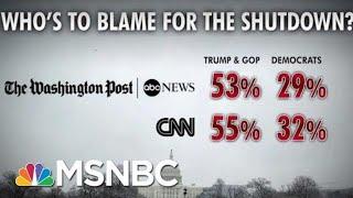 Most Americans Blame President Donald Trump, GOP For Shutdown: Polls | Morning Joe | MSNBC