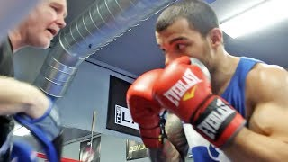 GLEN TAPIA Looks Razor Sharp Working with MIGUEL COTTO & FREDDIE ROACH for the Keenan Collins Fight!