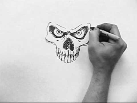 Crazy Skull Drawings Skull Speed Drawing