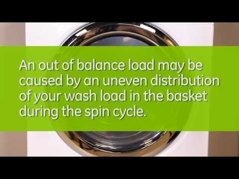 washing machine out of balance on spin cycle