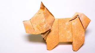 Origami Dog tutorial. Japanese Dog from paper
