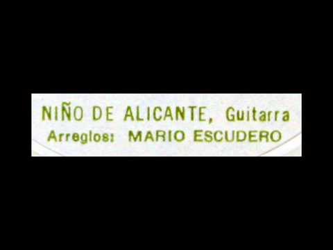 Mario Escudero (Niño de Alicante), 1959: A La Vera Del Agua - Tanguillo (Quiroga)